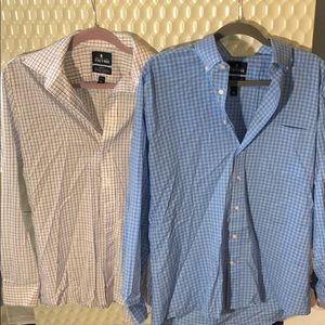 Set of 2 Stafford collared button downs